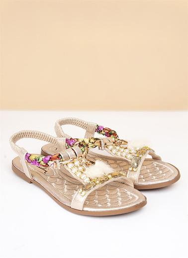 Pierre Cardin Sandalet Altın